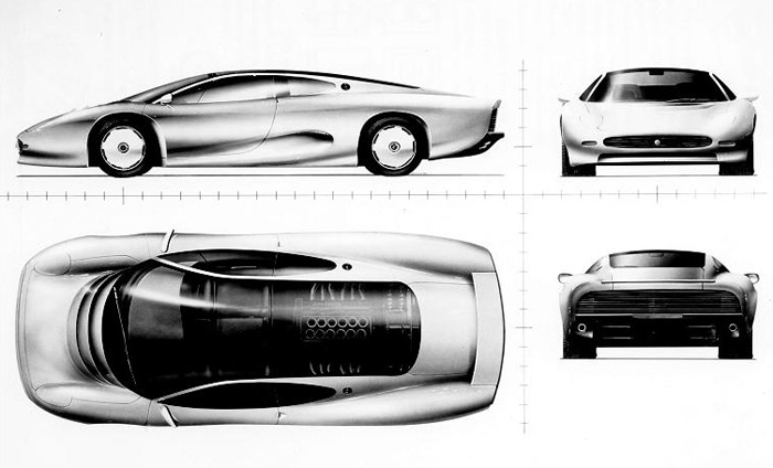 silver car Jaguar XJ220 wallpapers. Labels: JAGUAR