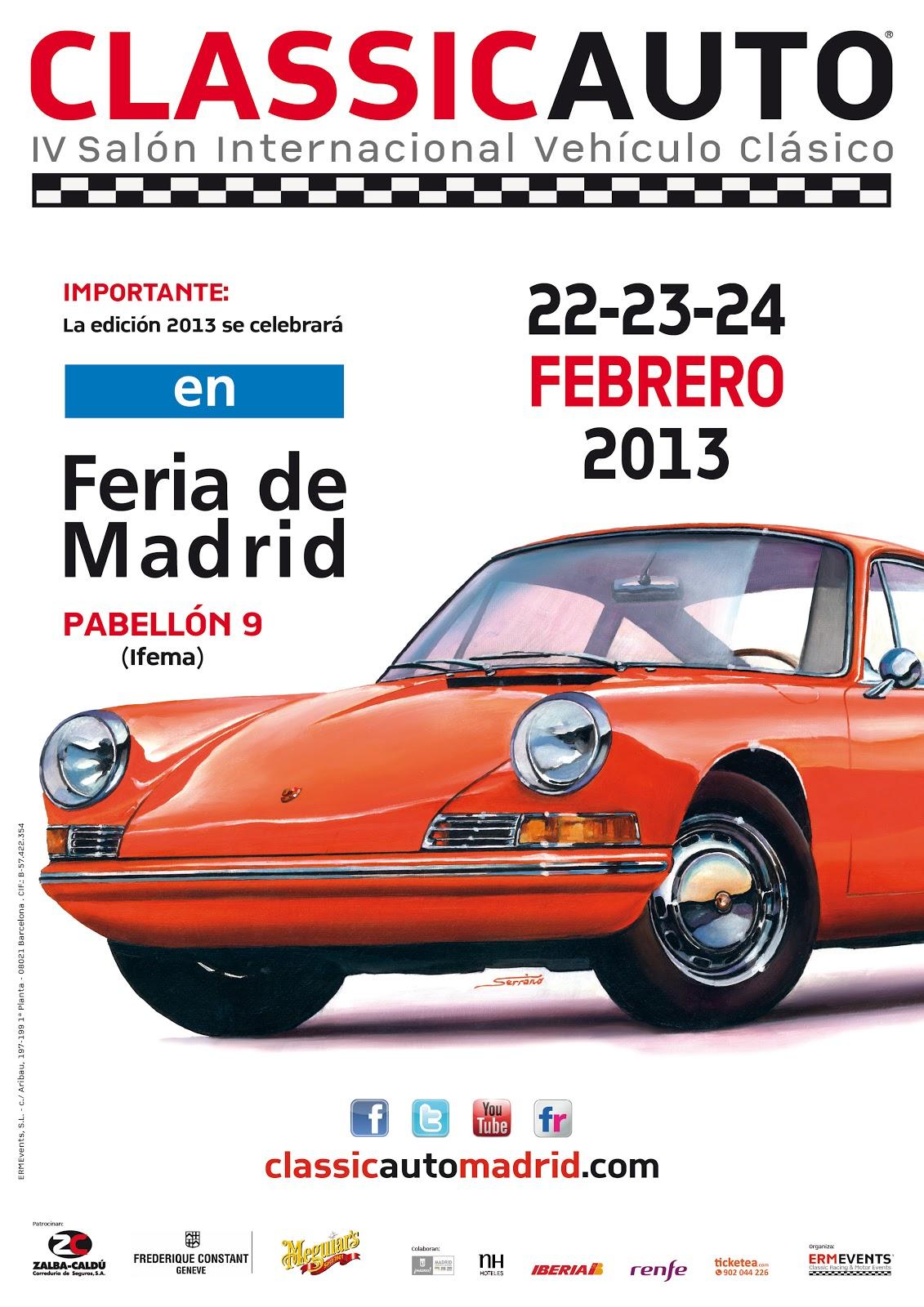 Cartel ClassicAuto Madrid 2013 (Ifema)