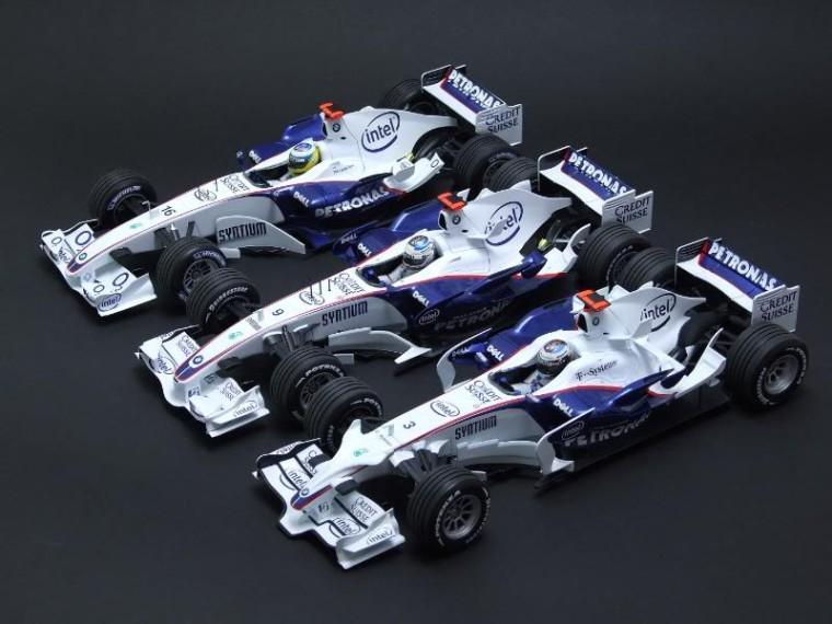 BMW Sauber F1.06, F1.07 y F1.08 (maquetas)