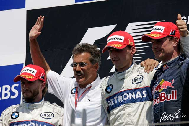 BMW Sauber F1.08 podio (8-6-2008, Villeneuve, GP de Canadá)