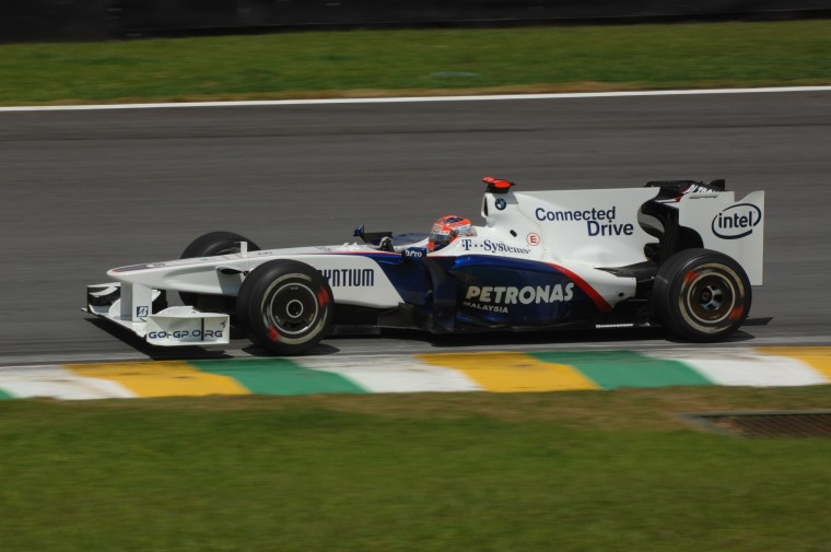 Sunday, October 18, 2009 Brazilian Grand Prix Interlagos, Sao Paulo, Brazil. Robert Kubica (POL) in the BMW Sauber F1.09 This image is copyright free for editorial use © BMW AG