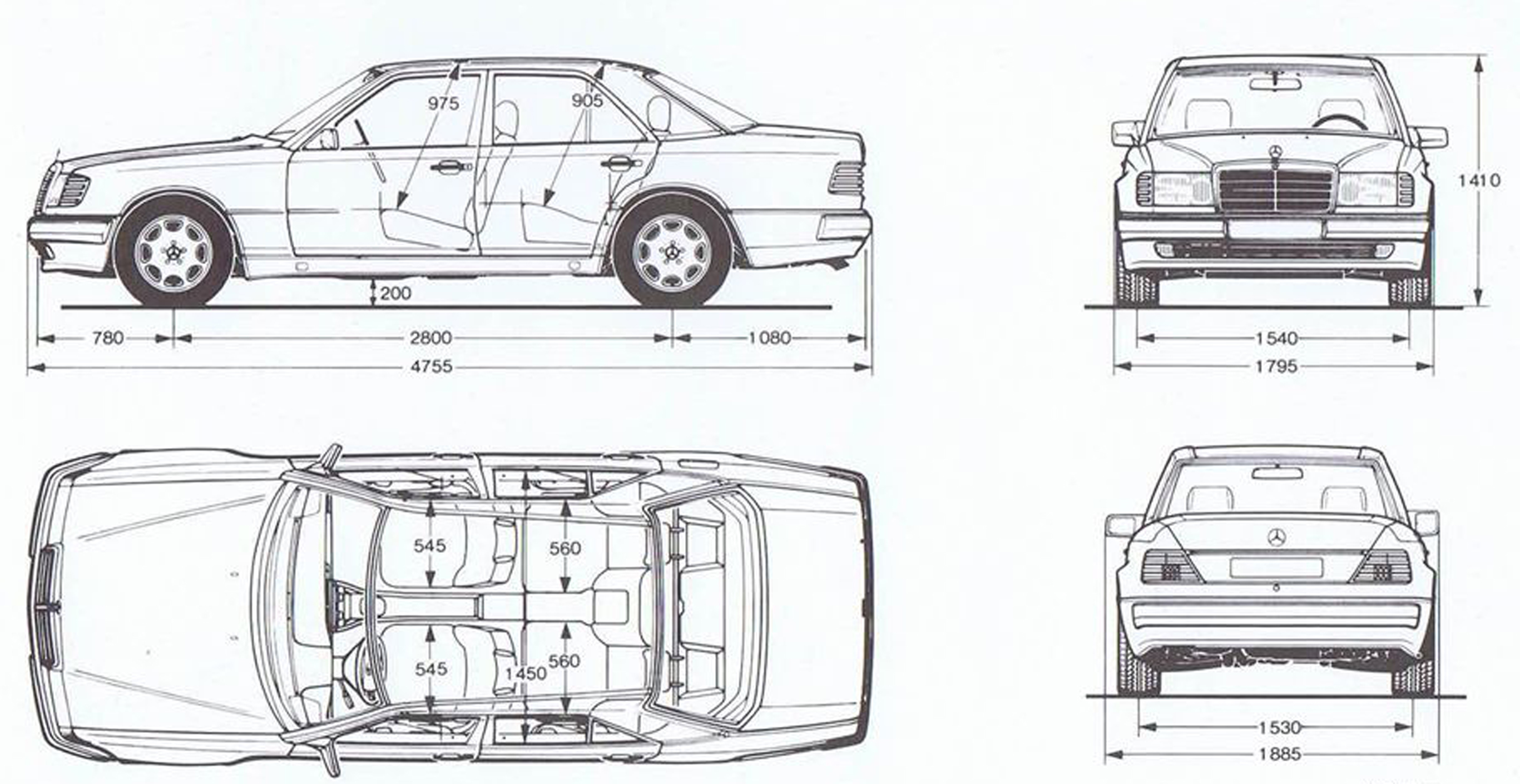 Mercedes-Benz-500E-W124-1992